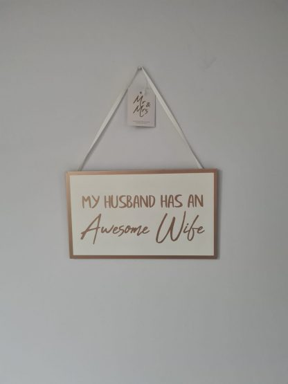 wedding plaque awesome