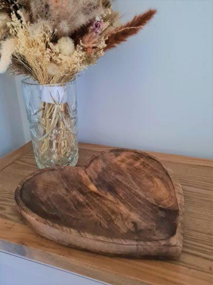 big wooden heart