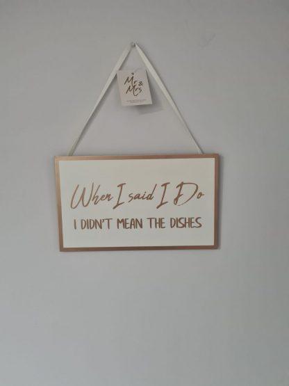 wedding plaque i do