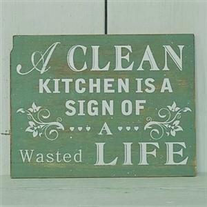 kitchen wooden plaque