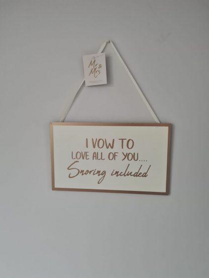 wedding plaque love