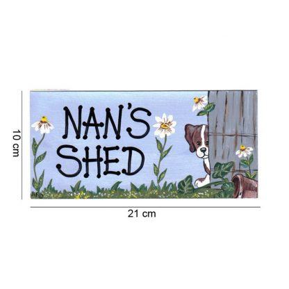 nans shed sign