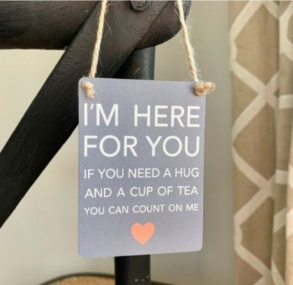 here for you sign