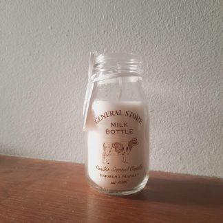 milk bottle candle